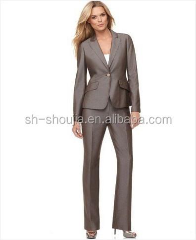 Ladies Elegant Business Suit Uniform Sets Women Office Uniform Design 2014 Newest Style