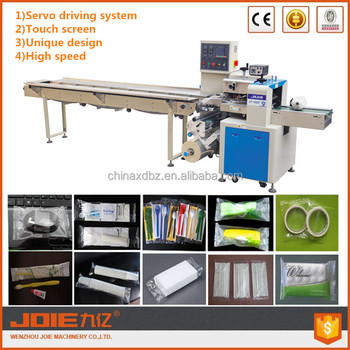 JOIE servo motors driving system Automatic Horizontal Preserved Sticky Plum Down Paper Feeding Flow packaging machine