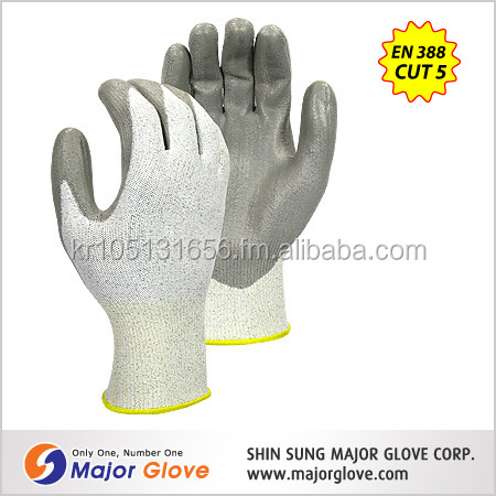 MAJOR GLOVE PU coated Level 5 cut resistant gloves