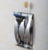 Creative Adhesive Stainless Steel Toothbrush Wall Bracket with 2 holes