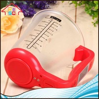 Kitchen Plastic Measuring Cup With Digital LCD Display Household Electronic DigitalJug