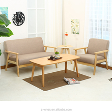 2018 new style modern wooden fabric leisure sofa chair living room sofa chair
