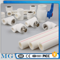wholesale hot sale ppr pipe 20mm-110mm drinking water ppr pipe anufacturing plastic female ppr pipe fitting