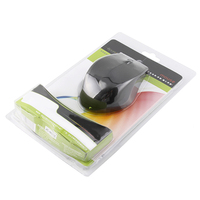PET plastic blister packaging transparent slide packs for computer mouse
