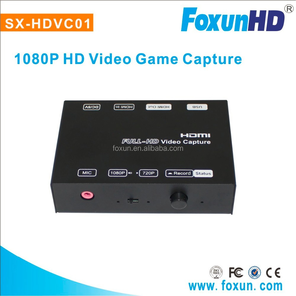 SX-HDVC01 1080P hdmi video game capture H.264 compression encoding HDMI out game grabber