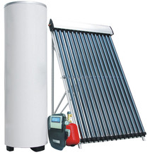 Split pressurized system solar water heater collector