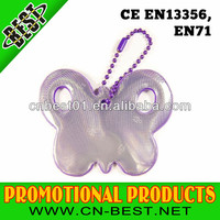 EN13356 PVC reflective key chain