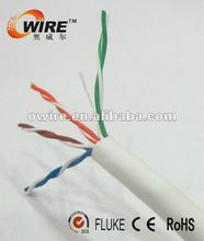 stranding copper white PVC jacket cat 5e UTP net cable
