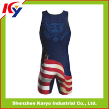 Wholesale Custom Sublimated Wrestling Singlets Reversible High Quality With Lycra