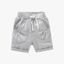 Hot Sale Cotton Fabric Simple Plain Blank Boys Shorts In Cheap Price