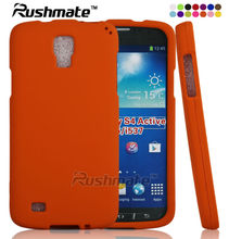 For Samsung Galaxy S4 Active I9295 Mobile Phone Rubberized Orange Hard Plastic Case