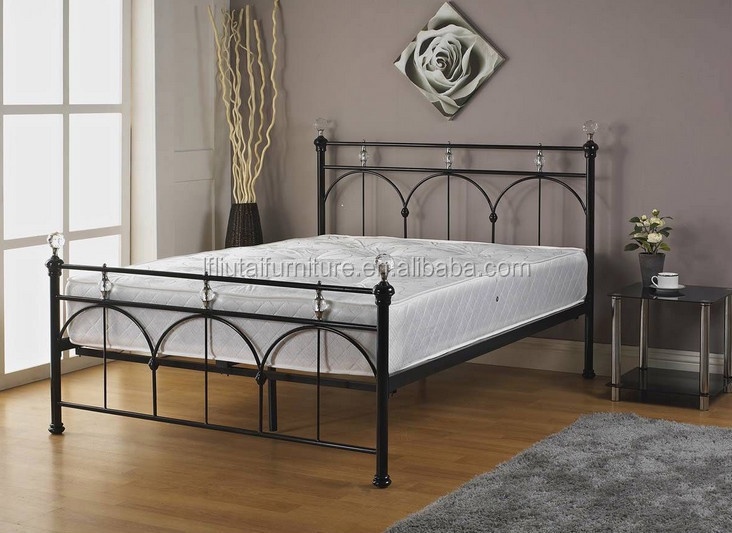 European Style Iron Steel Bed Frame Double Size