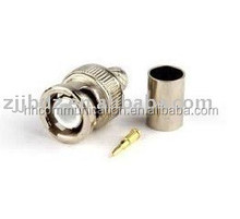 BNC male crimp type connector RG-6/U cable connector