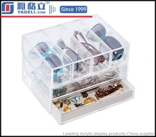 desktop acrylic drawers storage organizer in transparent color