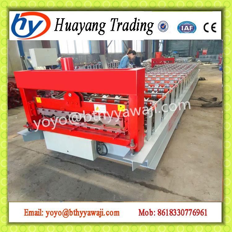 colorful stone chip coated steel roof tiles cold roll forming machine New Design