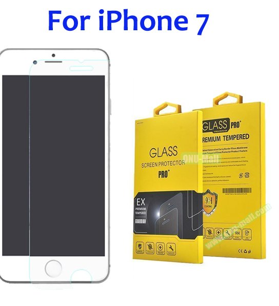 Wholesale 2.5D 9H Hardness Anti-Scratch Tempered Glass For iPhone 7 Screen Protector