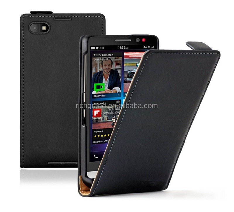 Slim mobile phone leather case cover for Blackberry Z30