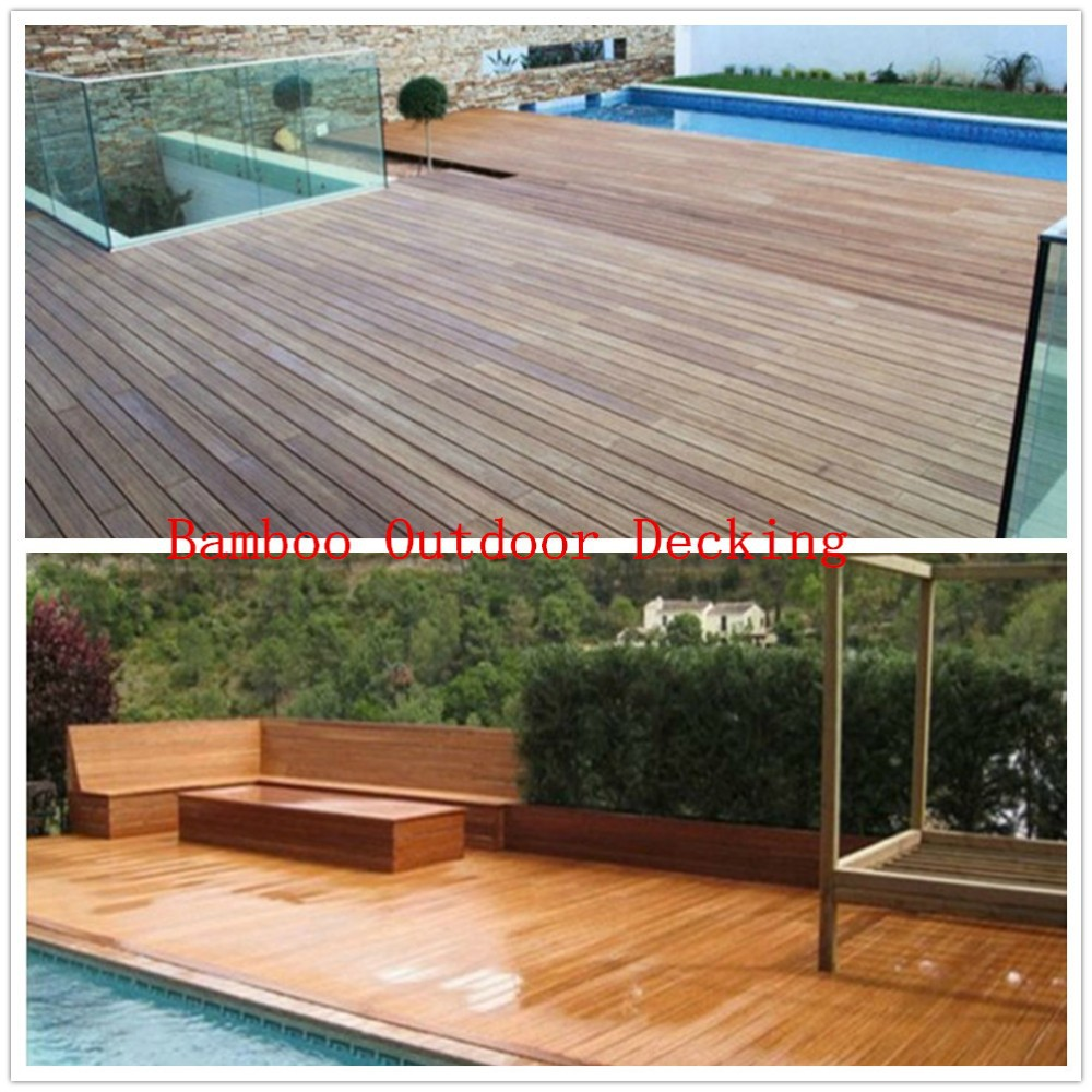 Outdoor Deck Strand Woven Structure Bamboo Flooring