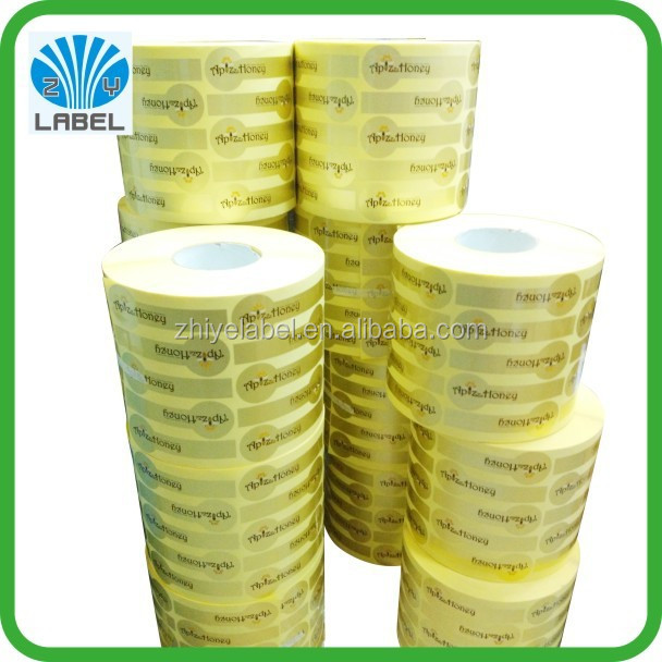 custom label sticker/honey label/adhesive sticke honey seal label
