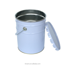 18 liter white coating mental chemical use tin can paint bucket with handle