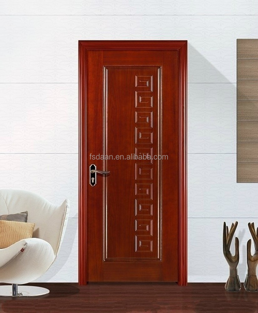 plywood flush door wooden interior doors with pvc coating