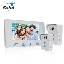 Saful High Resolution IP Wired door video phone 7 inch
