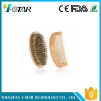 Custom high quality wooden beard brush set,beard brush and comb set