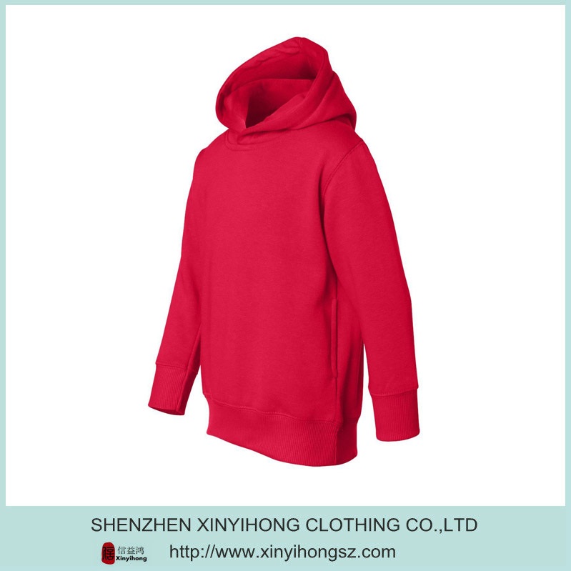 Blank Red Color Cotton Durable Mens Hoodie Jeans Jacket
