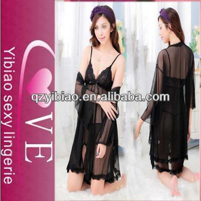 New Fashion Ladies Dress Sexy Lingerie 2 pcs Women Nude Nightgowns