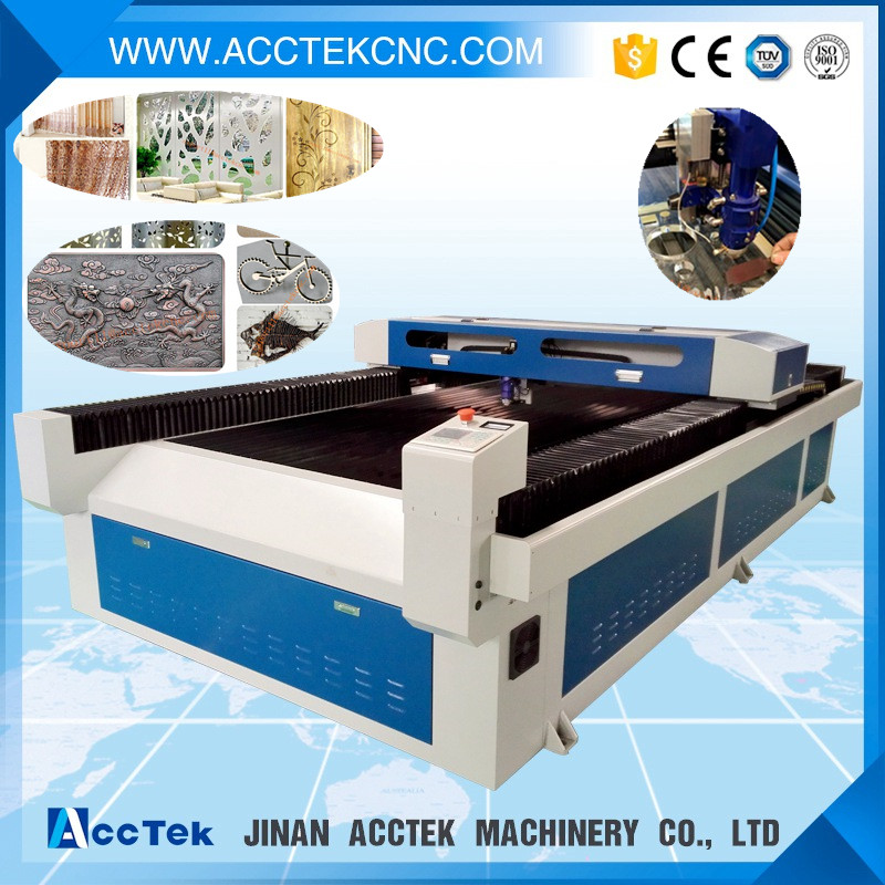 mini laser metal cutting machine AKJ1325H/1390H metal shears metal cutters