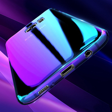New Coming Aurora 3D Blue light electroplating PC mobile phone case for Samsung S8 Plus 3 colors