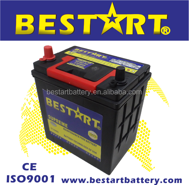 38B20R-MF 12V35AH auto car battery for Japanese vehicle SMF storage battery