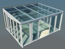 European Style PVC Glass Room Sun Room with Tempered Double Glass