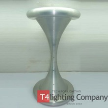Aluminium leg tulip shape brass dining table base brushed chrome legs