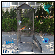 Pet Products Bird Aviaries Parrot Cage Large Size with Drinker and Feeder