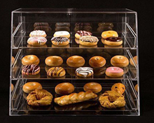 3 Tier Acrylic Cupcake Cookie Display Case With Removable Trays