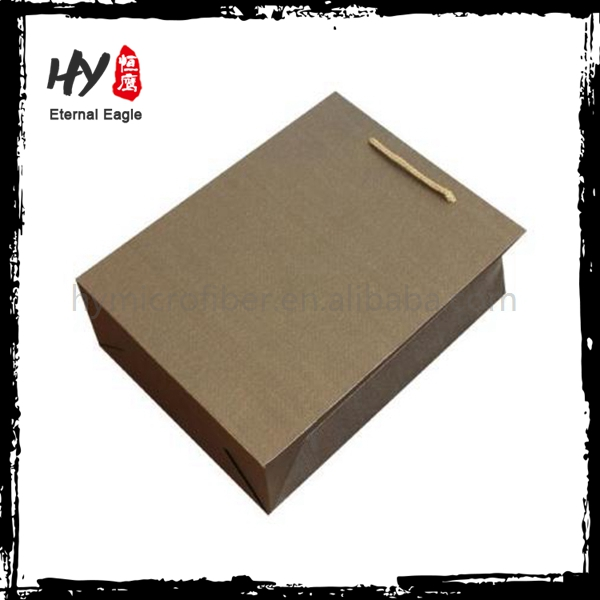 Hot selling glossy black paper shopping bags with high quality