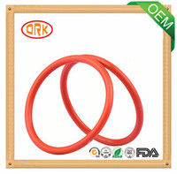 Red Good Tensile Silicone Rubber O Ring Seals