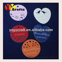 Special design laser cut pearl paper kraft paper garment tags from YOYO crafts
