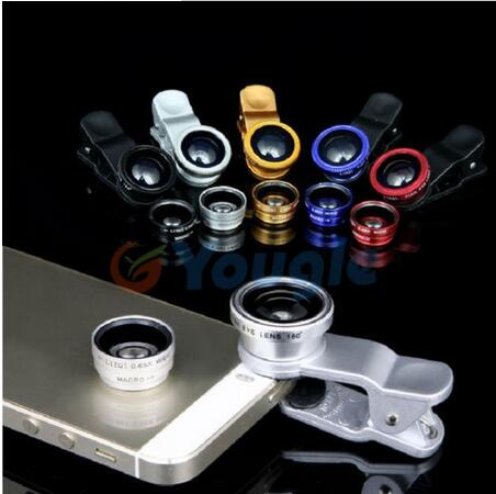 Jaxy Enjoy Popularity Novel Parts Focus Fisheye lens+Marco lens +Wide-angle lens Three Funtion For Mobile Phone