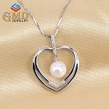 China 2016 new products handmade elegant pure silver puffy heart pendant