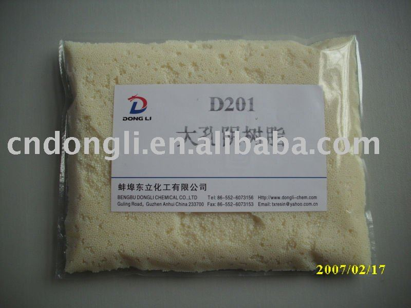D201 Macroporous Strong Base Anion Exchange Resin