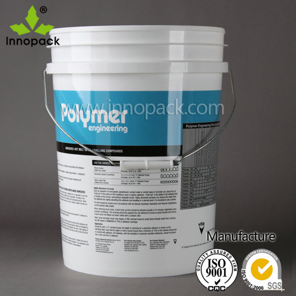 Wholesale 5 Gallon 20l White Water Lacquer Oil Varnish Plastic Buckets With Lid And Metal