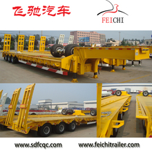 3/4 axles gooseneck low loader lowboy semi trailers / 60ton low bed trailer dimensions for crane excavator transport