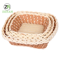 Custom high quality fresh vegetables woven kitchen waterproof baskets