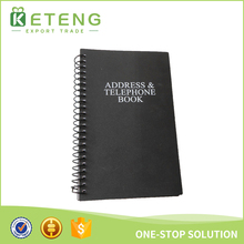 Hot Products 2017 Black Phone Number Address Notebook Custom