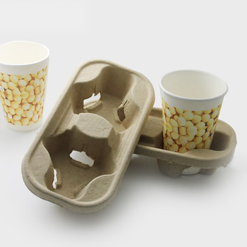 Molded Pulp Cup Holder Tray