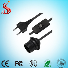 uk /usa/ euro/ au plug UK/euro plug Rotary dimmer switch E27 socket salt lamp AC power cord with CE certificate