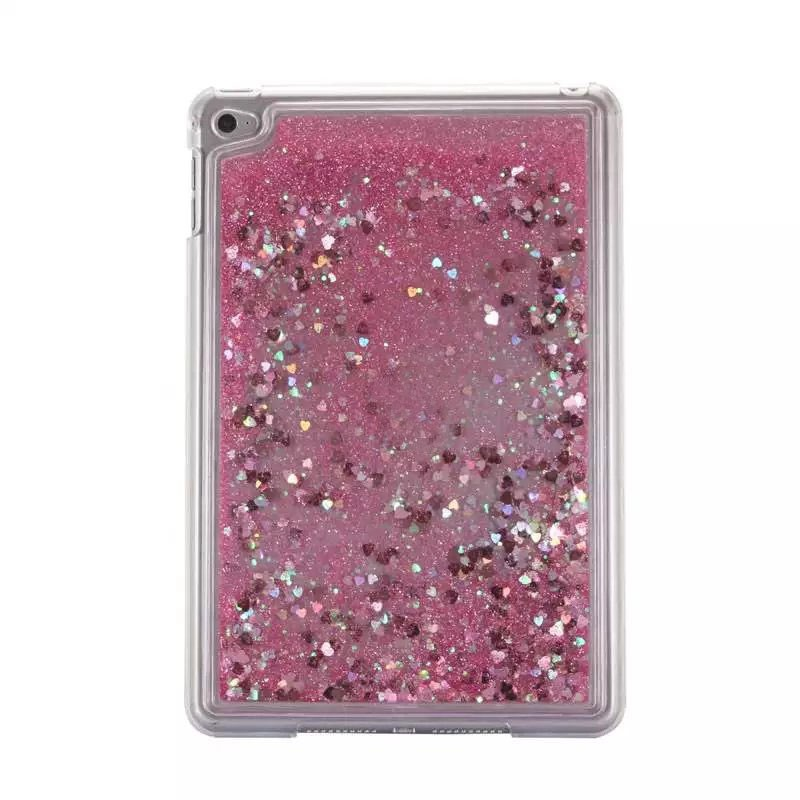 Glitter Quicksand Tablet pc case for iPad Mini 4 Liquid back cover for ipad mini4 Plastic hard case
