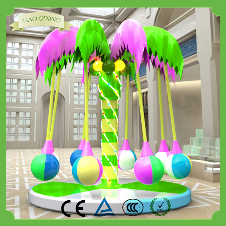 Children love the electric toys , Indoor children's toys Naughty castle coconut tree